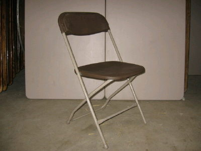 Where to rent CHAIR, FOLDING BROWN in Greater Kankakee area.